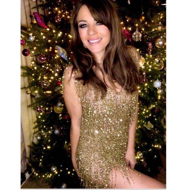 Несравненная Элизабет Хёрли выбрала себе новогодний наряд (8 фото)