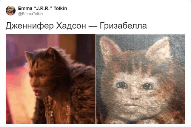 В Твиттере сравнили котов со средневековых картин (16 фото)