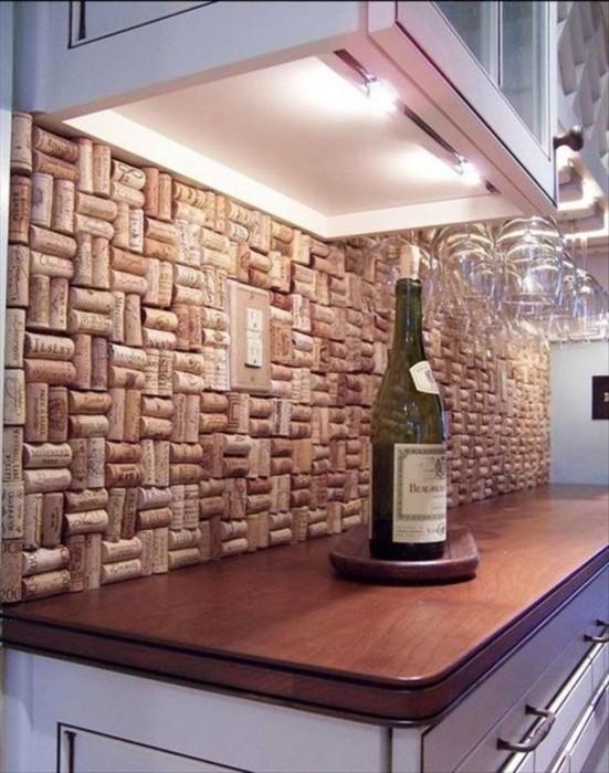 Декор из пробок от винных бутылок (10 фото)