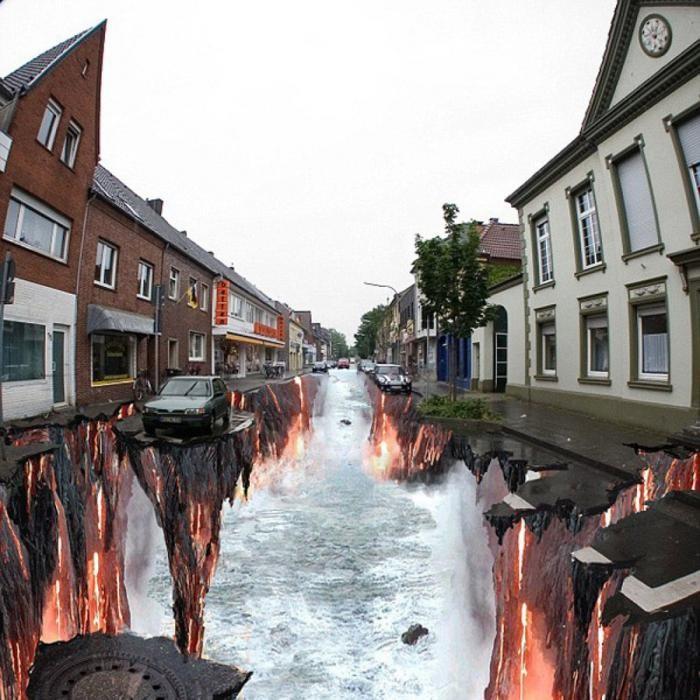 3D-рисунки на асфальте которые стали достопримечательностями (11 фото)