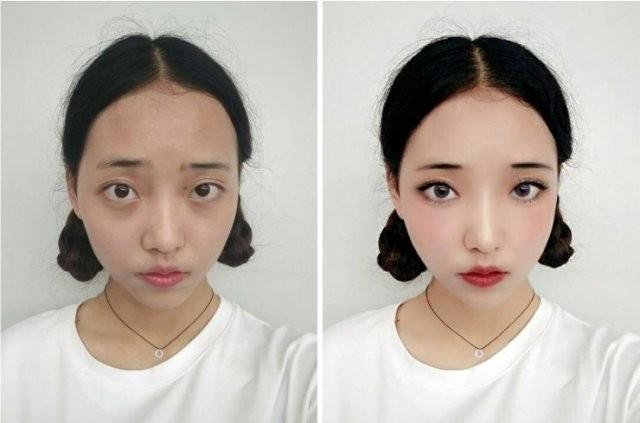 Азиатки начали использовать технологии вместо макияжа (12 фото)