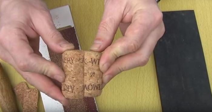 Рукоятка для ножа из винных пробок своими руками (7 фото)