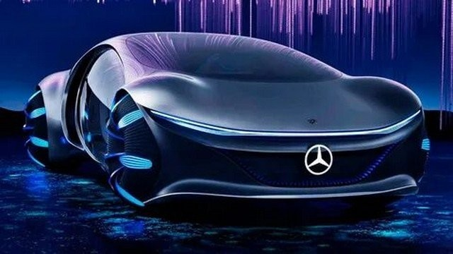 Mercedes Vision AVTR заметили на дорогах Лас-Вегаса (3 фото)