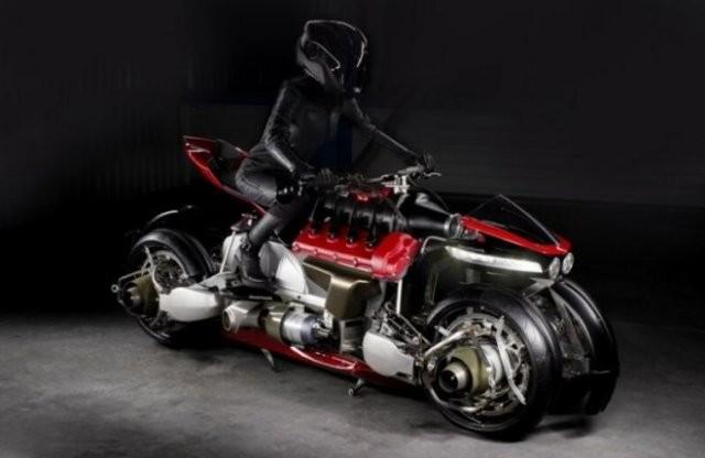 Летающий мотоцикл-трансформер (6 фото)