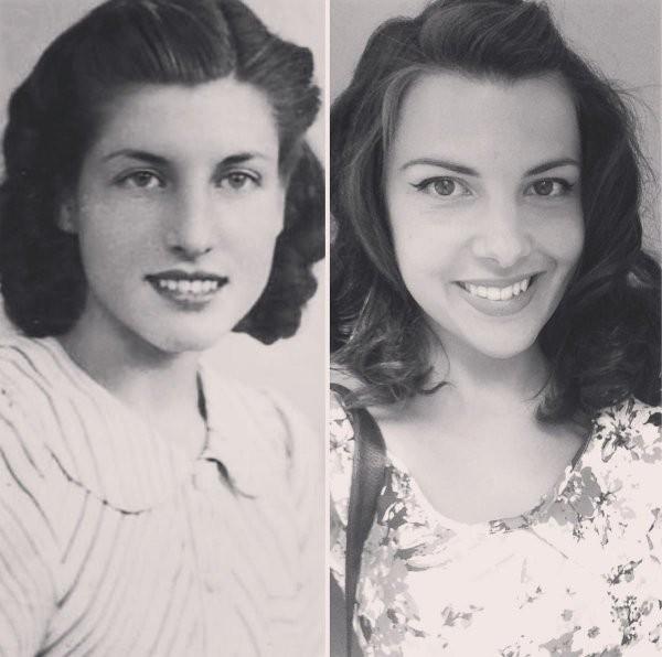 Воссоздали фотографии своих бабушек и дедушек в молодые годы (17 фото)