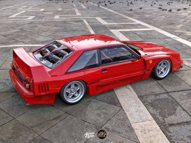 Каким было бы совмещение авто Ferrari F40 и Ford Mustang (7 фото)