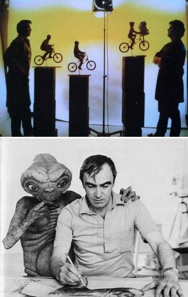 Интересные фотографии со съемок известных фильмов (19 фото)
