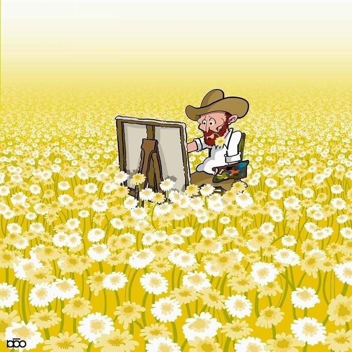 Жизнь Ван Гога глазами иранского художника (31 фото)