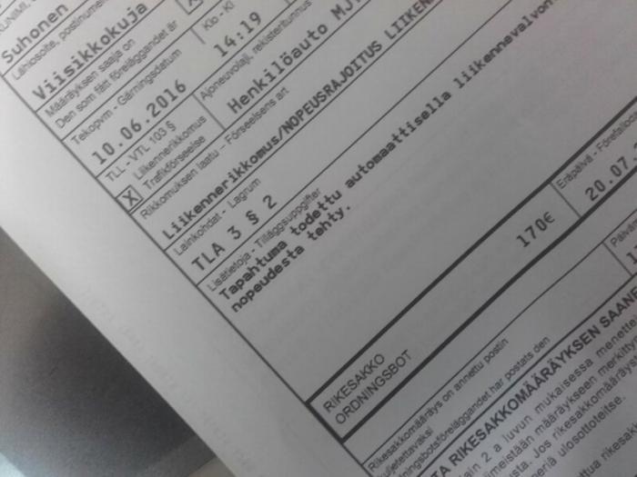 Штрафы за нарушение ПДД в Финляндии (8 фото)