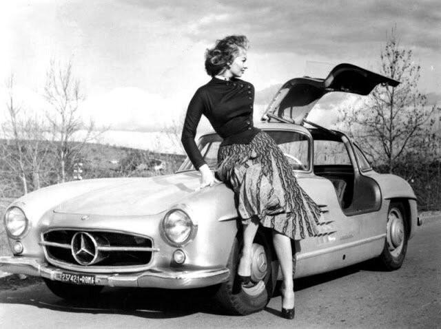 Роскошная Софи Лорен и ее Mercedes-Benz (16 фото)