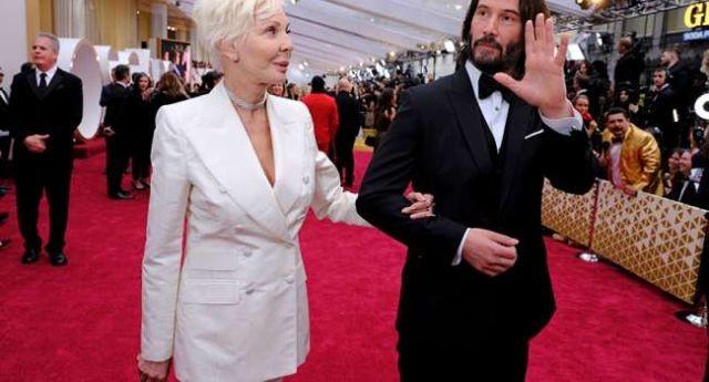 Угадайте с кем пришел Киану Ривз на церемонию Оскар? (8 фото)
