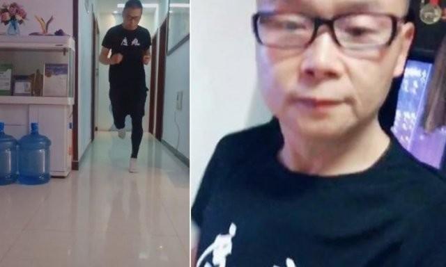 Из-за карантина марафонец из Китая пробежал 50 км по квартире (2 фото)