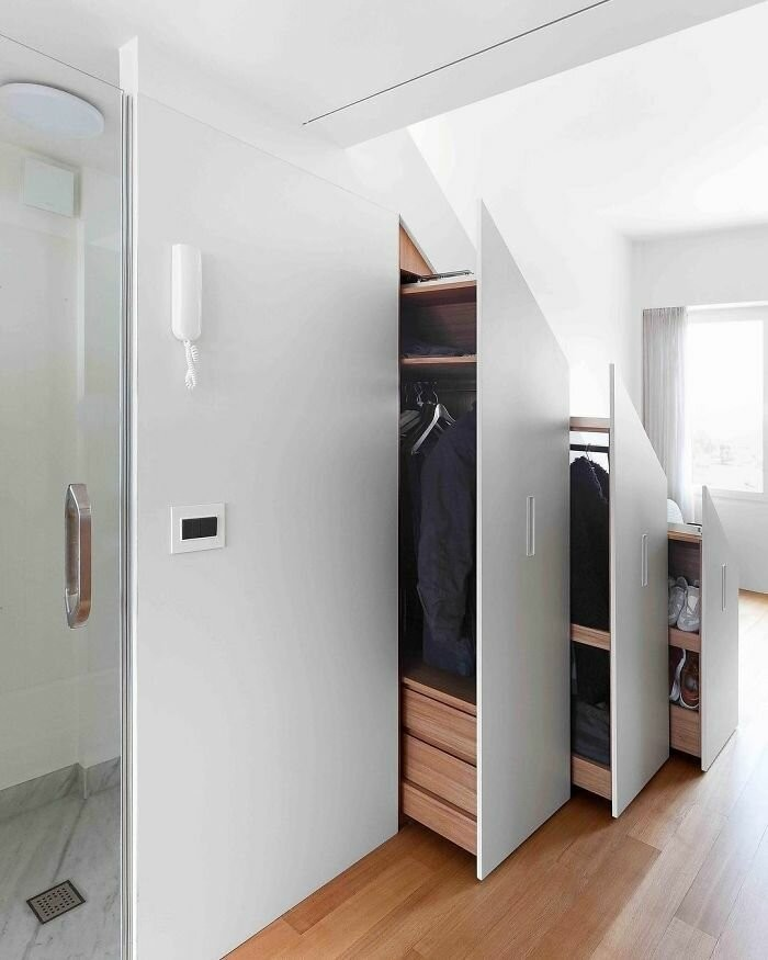 Дизайнерские решения которые помогут сэкономить пространство (15 фото)