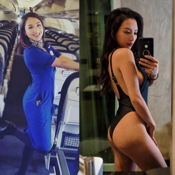 Стюардессы в униформе и без неё (24 фото)