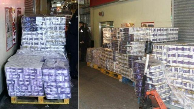 В Гонконге грабители похитили 600 рулонов туалетной бумаги (2 фото)