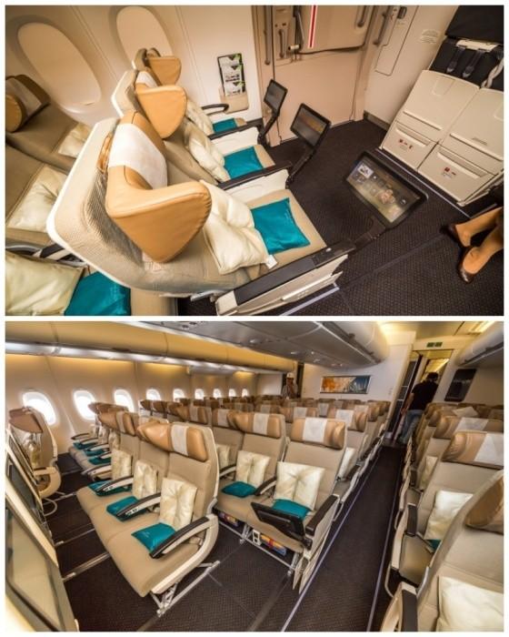 Незабываемый полет в роскошном лайнере из ОАЭ (14 фото)
