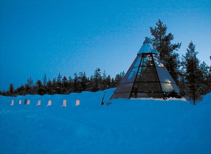 Гостиница в Лапландии со стеклянными иглу (20 фото)