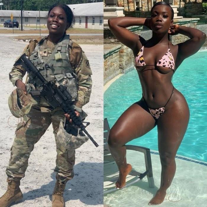 Девушки в форме и обычной одежде (32 фото)