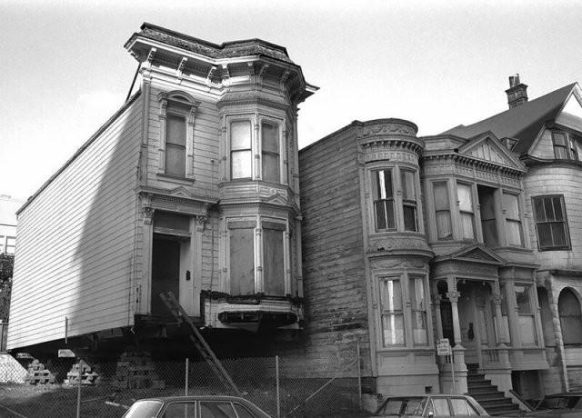 Перевозка целых викторианских домов в 1970-е (15 фото)