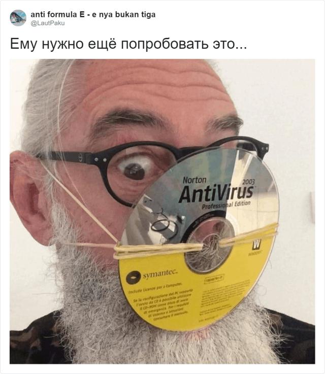 """Итальянец придумал """"противокоронавирусное"""" приспособление (4 фото)"""