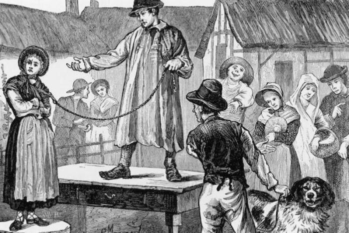 Как в Англии XVIII века избавлялись от надоевших жен (7 фото)