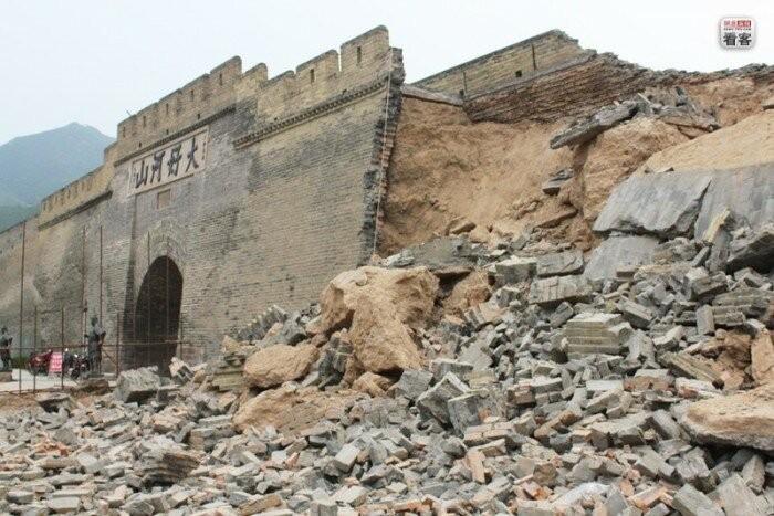 Китайская подделка Великой Китайской стены (4 фото)