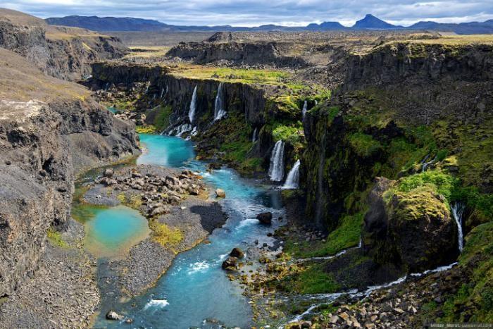 Путь к долине Landmannalaugar в Исландии (36 фото)
