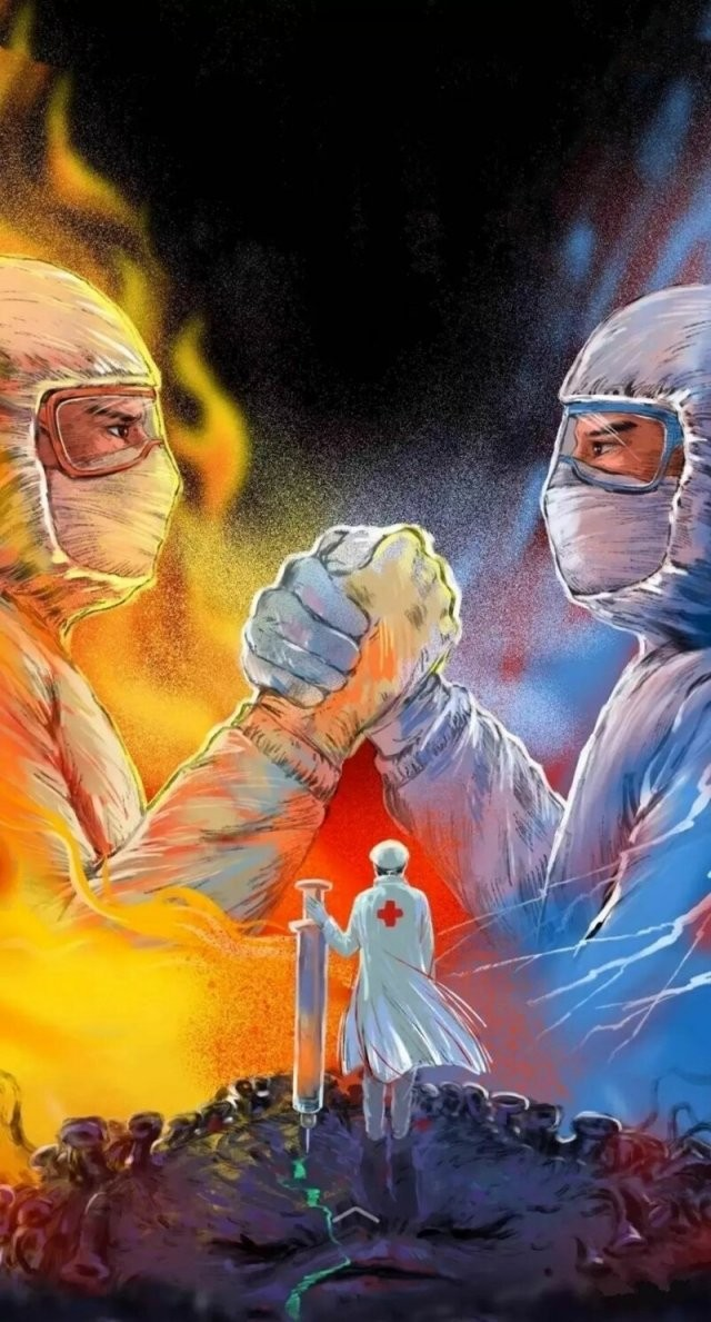 Художники создают иллюстрации, отражающие героическую борьбу (15 фото)