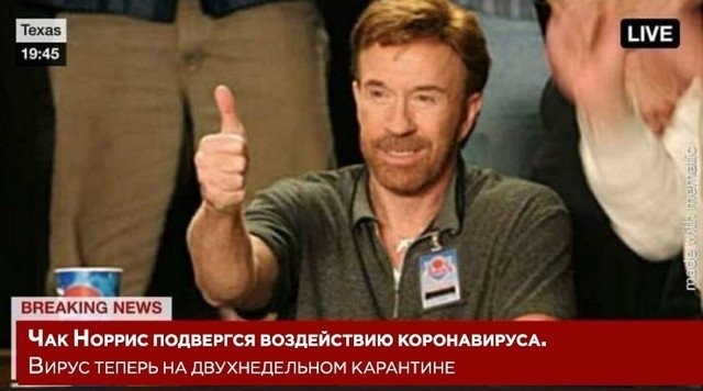 Чак Норрис и коронавирус греча и изоляция о чем шутят в Сети (16 фото)
