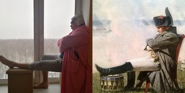 Россияне массово повторяют известные картины (10 фото)