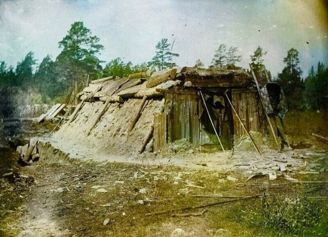 Цветные фотографии русской деревни в конце XIX века (15 фото)