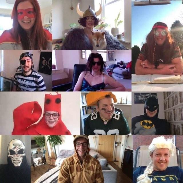 Смешные наряды сотрудников, которым приходится работать дома (10 фото)