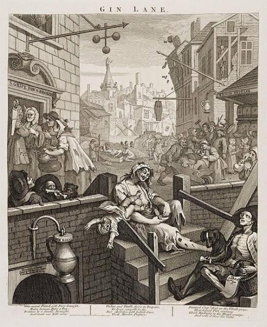 История о том, как Лондон чуть не погубило дешевое пойло (4 фото)