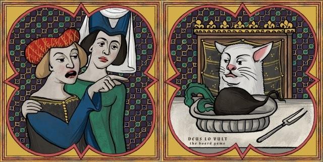 Современные мемы в средневековой интерпретации (8 фото)