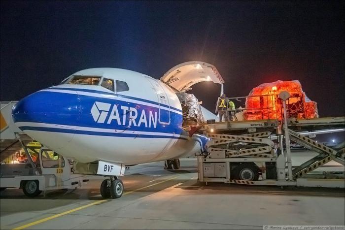Дезинфекция грузовых самолетов (19 фото)