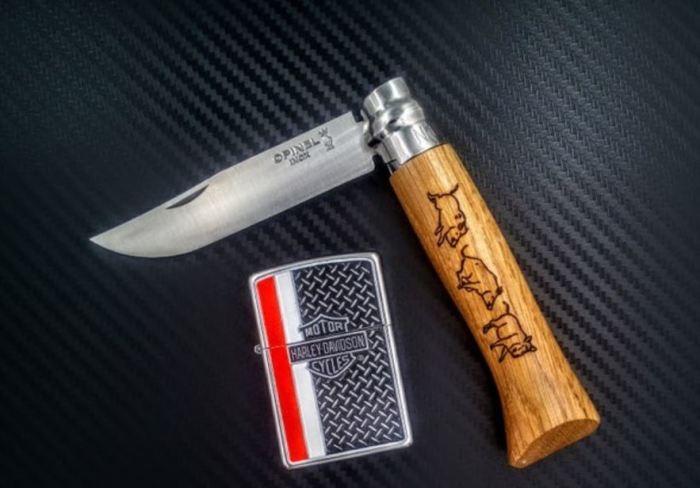 Таежный способ избавления от клеща с помощью ножа (5 фото)