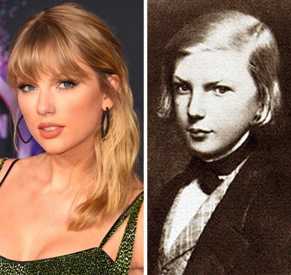 Знаменитости и их исторические близнецы (10 фото)