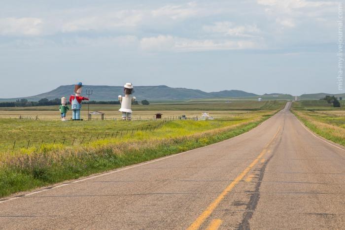 Зачарованное шоссе Северной Дакоты (19 фото)
