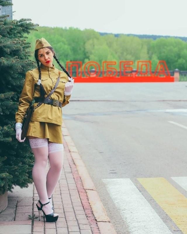 """""""Инстаграмщица"""", которую осудили за фотосессию в День Победы (9 фото)"""