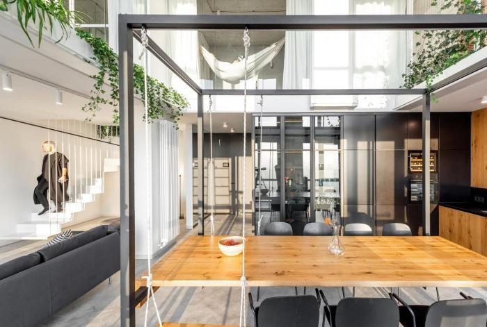 Интерьер двухуровневая квартира во Львове (25 фото)