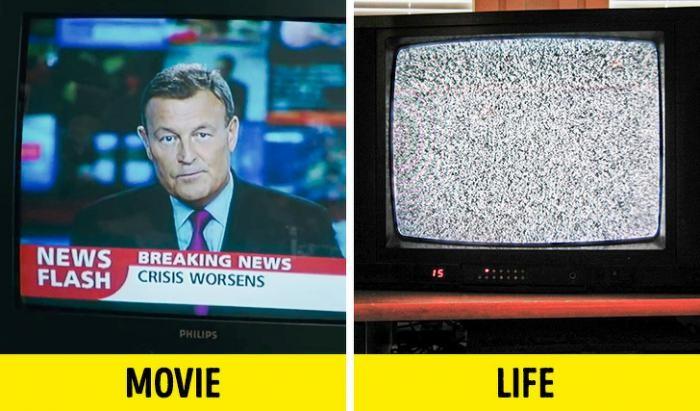 Странные вещи, которые видим в фильмах, но никогда в жизни (10 фото)