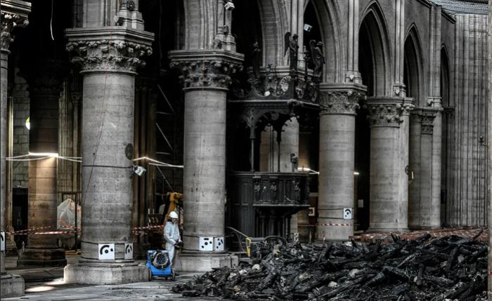 Как идет восстановление Нотр-Дам де Пари после пожара (6 фото)