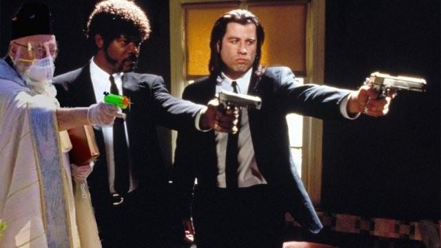 """Священник из США взял в руки""""оружие""""и повеселил пользователей (9 фото)"""
