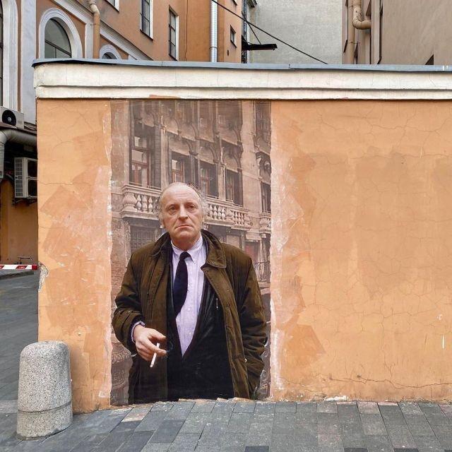 В Санкт-Петербурге нарисовали граффити с Иосифом Бродским (3 фото)