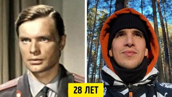 Советские и современные звезды в одном и том же возрасте (16 фото)