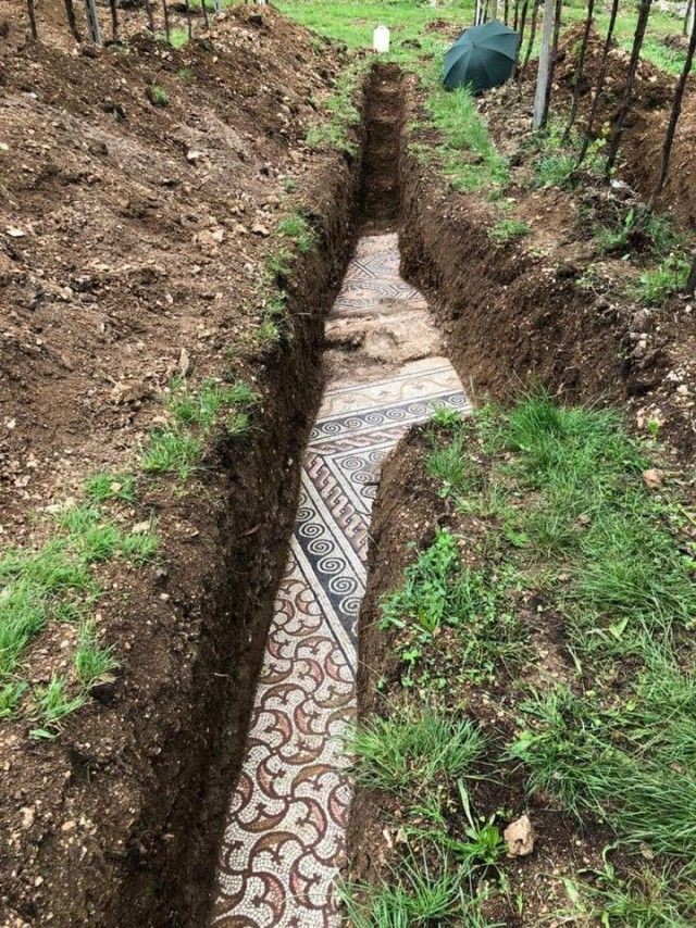 Археологи из Италии случайно обнаружили остатки древней виллы (6 фото)