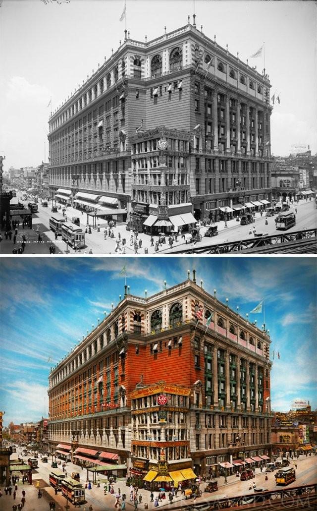 Фотограф раскрасил фотографии Нью-Йорка 1900-1940-х годов (20 фото)