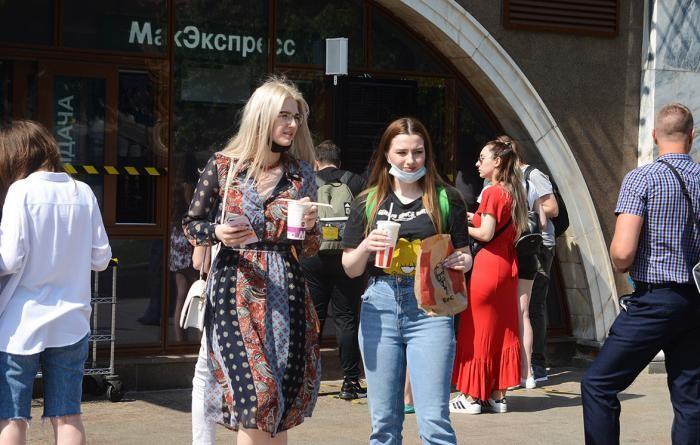 Москва в первый день после послабления карантина (9 фото)