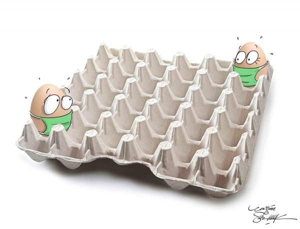 В Китае прошел международный конкурс карикатур коронавируса (15 фото)