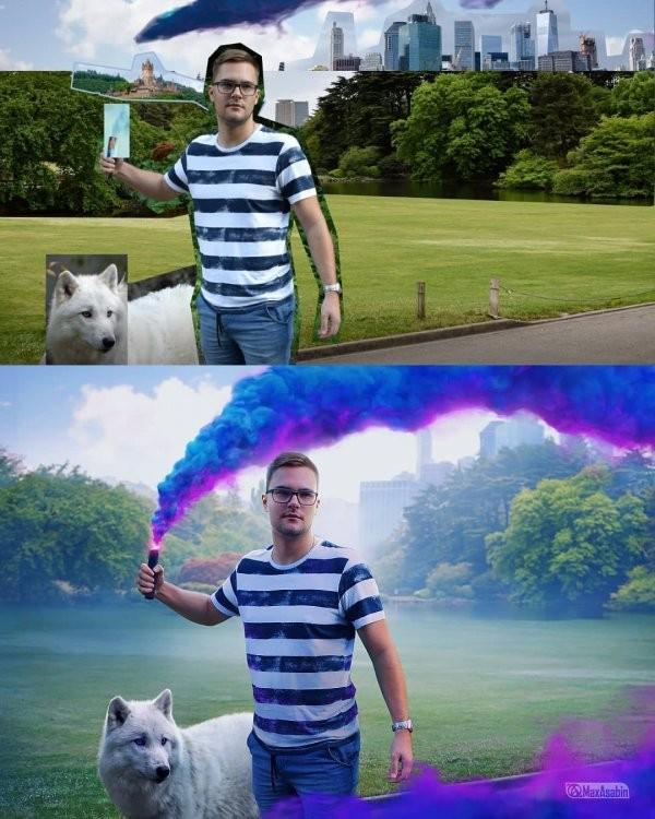 Мастер фотошопа детально показал,как он создает свои проекты (15 фото)